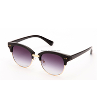 new style large favorably half frame retro style sun glasses