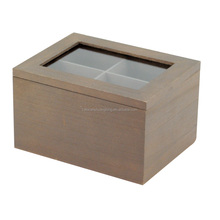 pine Customize multicellular glass display wooden box 9 grids packaging box tea storage gift jewelry box