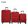 Red color 1680D eva four wheels safe lock wholesale custom trolley travel luggage bag