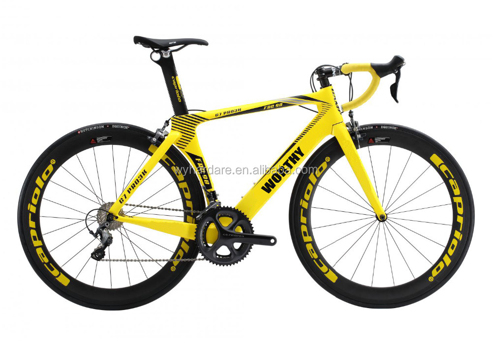 Wholesale low price high quality complete yellow cheap carbon road bike Cyclocross bike