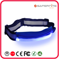 LED USB Rechargeable Running Belt Waist