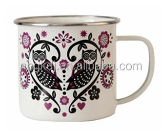 carbon steel enamel cup for drink of fashion style
