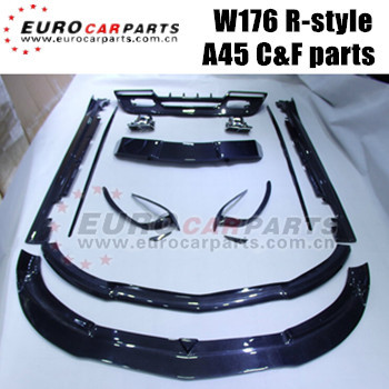 W176 carbon fiber parts fit for BENZ A-CLASS W176 A180 A200 A260 A45 carbon fiber body kits