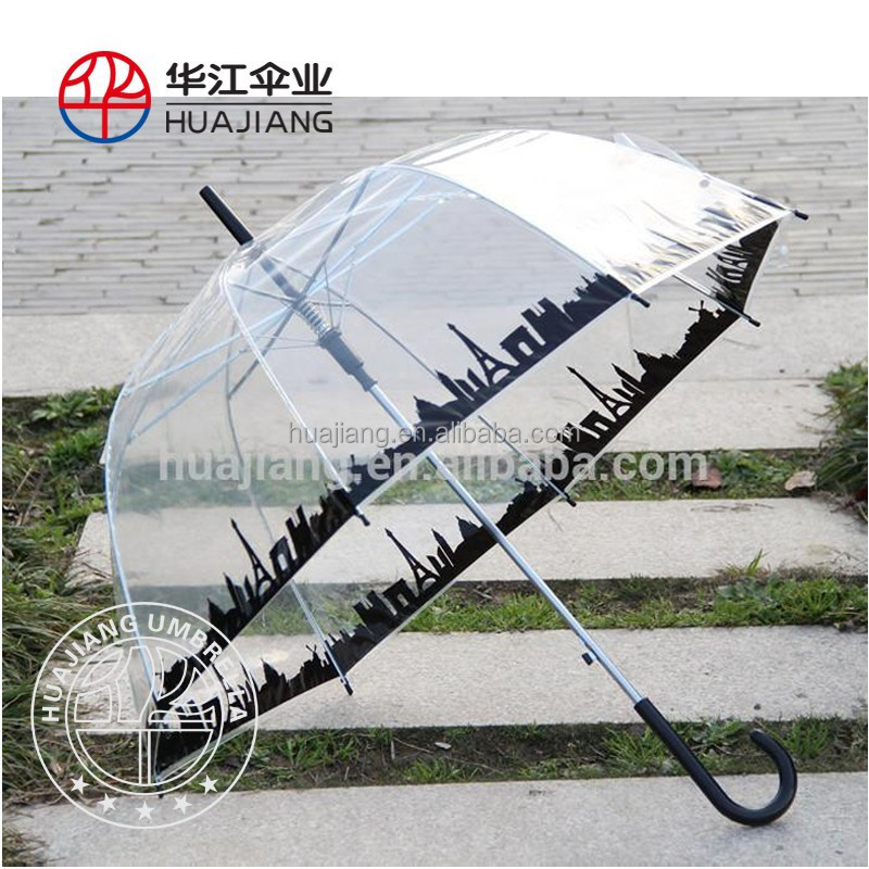 23 inch tranparent dome umbrella and clear bubble umbrella with full printing