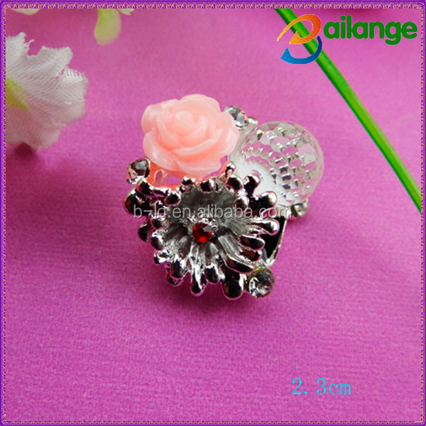 Unique design two small flower Bailange rhinestone toggle buttons