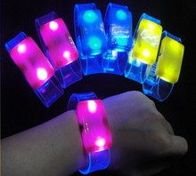 Party Supply Assorted Colors Sound Activated Flashing LED Bracelet luxury bracelet