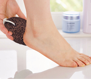 Wholesale Oval Black Lava Artificial Foot Scrubber Pumice Stone