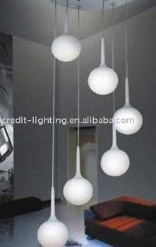 Sprial Glass Ball Modern Pendant Lights