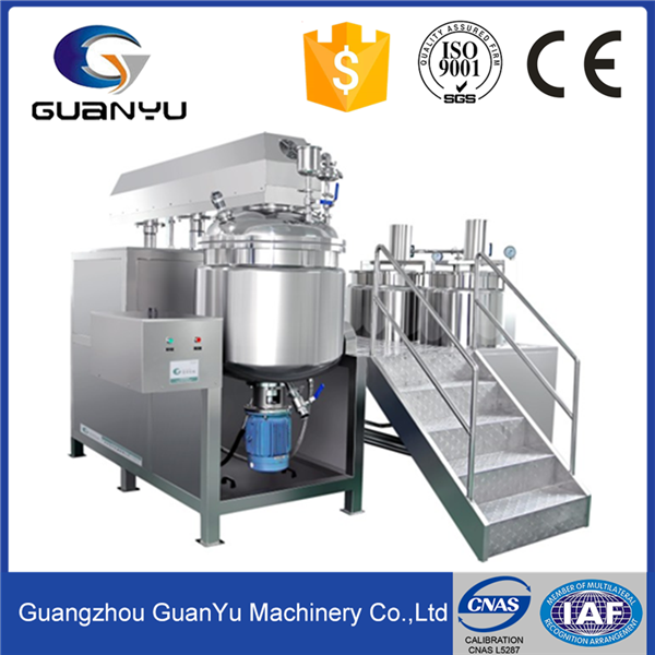 Stainless Steel Cosmetic/Food/ Chemical/ Pharmaceutical Vacuum Emulsifier , Mixer, Homoginizer