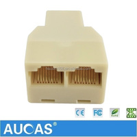 Taiwan Manufacture RJ45 8P8C Network Cable 2 Way Y Splitter Double Adapter 3 Port Ethernet LAN Coupler And Extender Plug Coupler