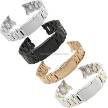 High Quality 5 Beads Solid Metal Watch Strap Stainless Steel Watch Band