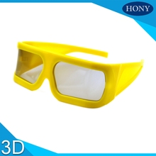 Make Big Yellow Frame Linear Polarized 3D Glasses For 3D 4D 5D 6D Cinemas,Passive IMAX 3d Glasses Linear Glasses for 3D Movies