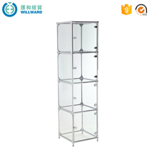 Tempered Glass Warming Display glass corner showcase