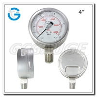 4Inch bourdon tube wika type liquid filled air pressure gauge