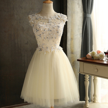 JS 24 Low Moq Champagne Wedding Gown Lace Bridesmaid Dress Patterns Free Shipping 038