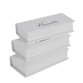 white foil stamped glossy eyelash packaging custom box