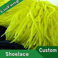 fashion colorful round woven elastic cord shoelace with custom logo