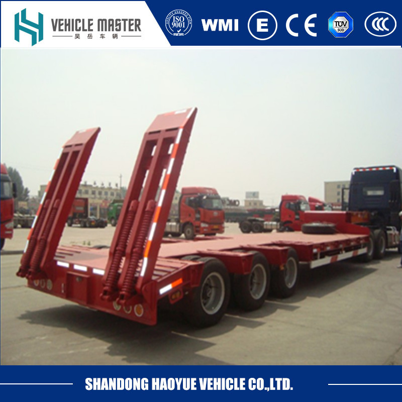 3 axle low loader boat semi trailer for sale