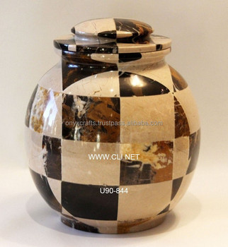 Marble Patch Mosaic Cremation Urns