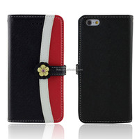 Classic Wallet Cross Pattern PU Leather Slim Stand phone Case