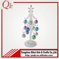 Manufacturer of nice looking balls decorated clear glass christmas tree
