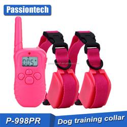 2016 new products 330 yards rechargeable Remote Dog Training Collar, for 15 to 100 lbs Breed Vibration/Shock E-Collar