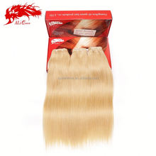 100 european remy virgin human weft extension 613 blonde hair weave