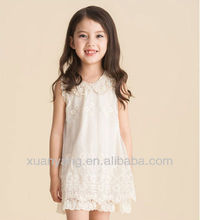 Latest designed fashion kids grils formal lace princess party wear dresses for young girl