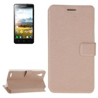 OEM Factory Production Silk Texture Wallet Style Flip Leather Cover Case for Lenovo P780