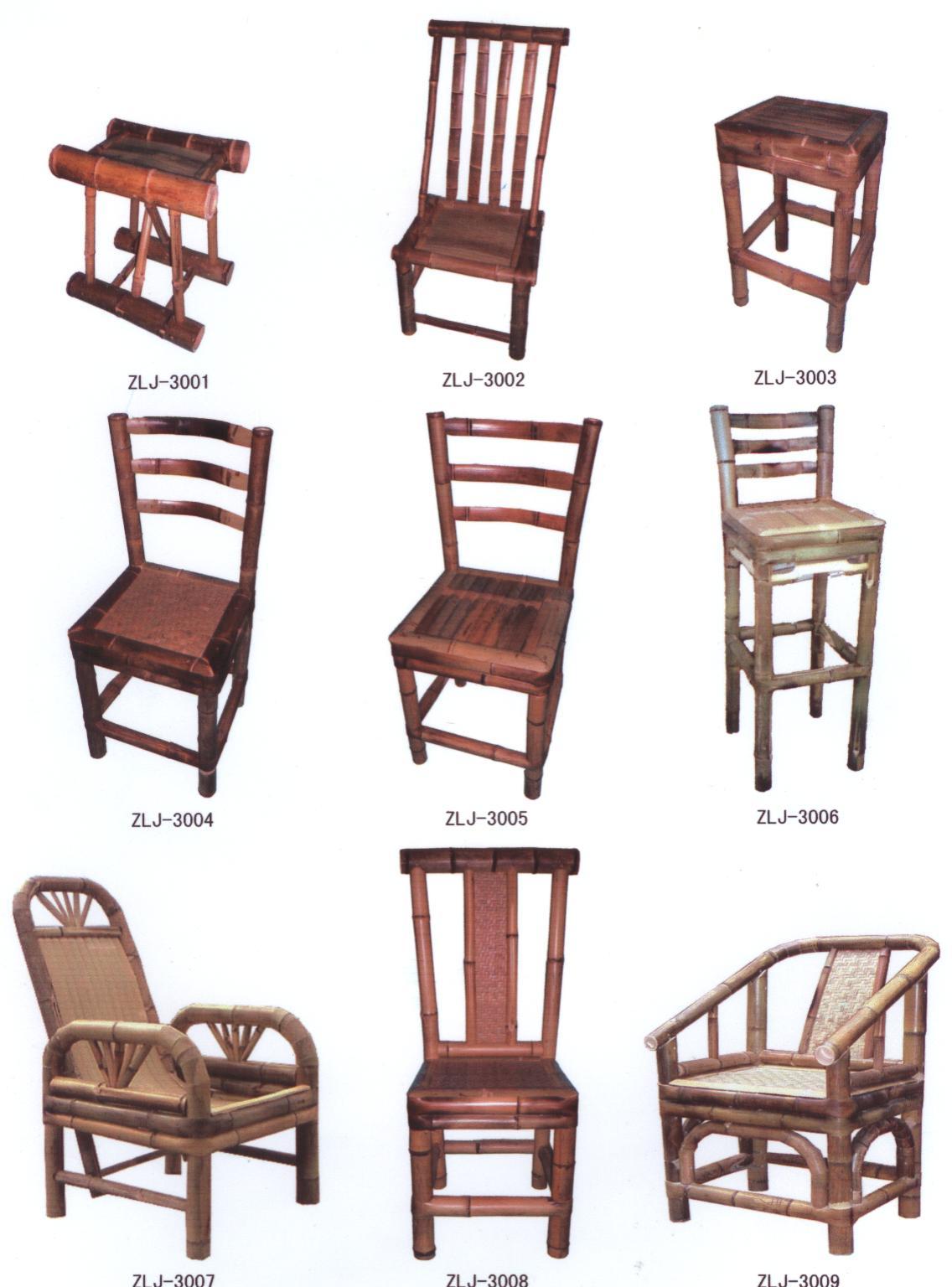 Hecho a mano de bamb silla sillas de jard n - Sillas de bambu ...