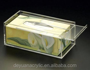 2014 Hot Sale New Design Pop Clear Acrylic Tissue Box Holder with lower price