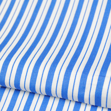 blue and white stripe 100% cotton fabric for bed sheets in hospital