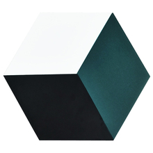 Green and black ceramic hexagon wall or floor hexagon tile 230x200mm hexagon tiles floor