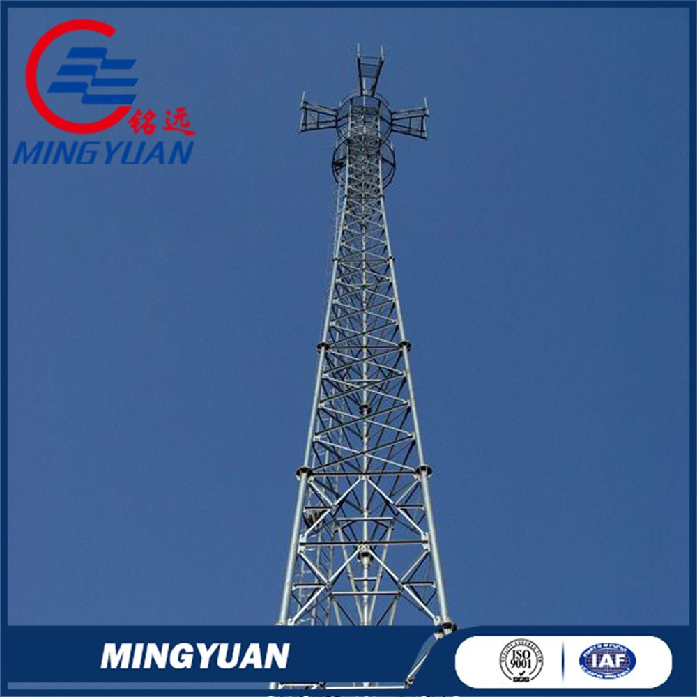 Mobile Microwave Communication cell phone steel lattice tower