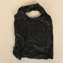New selling beautiful design personality black soccer shape polyester foldable tote bag