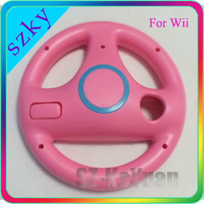 Gaming Racing Steering Wheel for Wii Pink