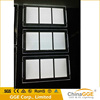 LED Light pockets window display curve combined crystal light boxes for real estate