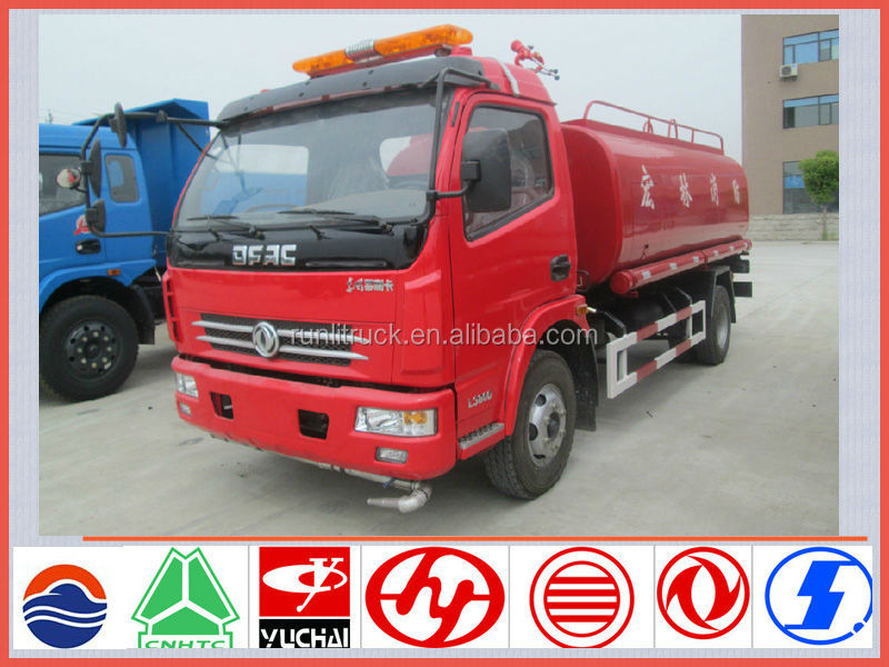 New brand dongfeng doly card 4*2 6ton left hand drive fire trucks for sale in europe