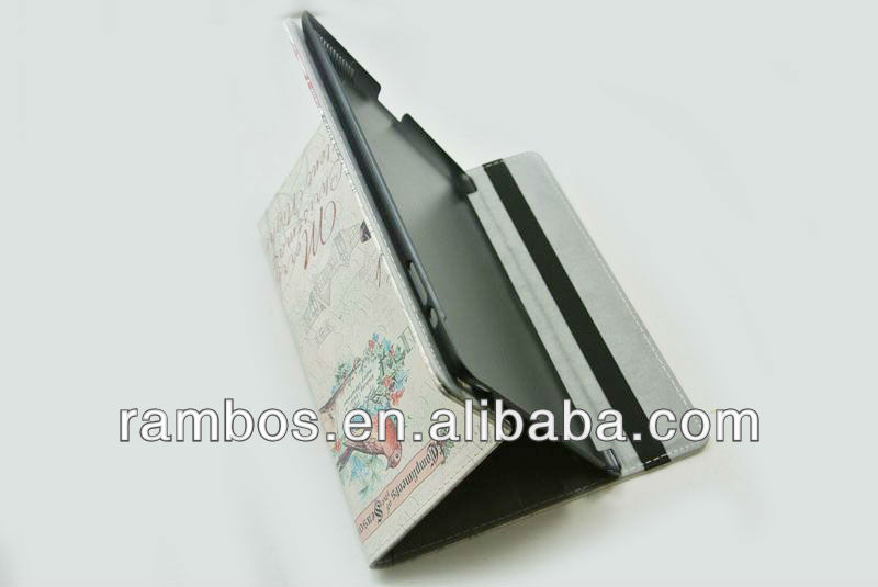 Cute Book Folio Case Hard Protective Cover for iPad 2 3 4