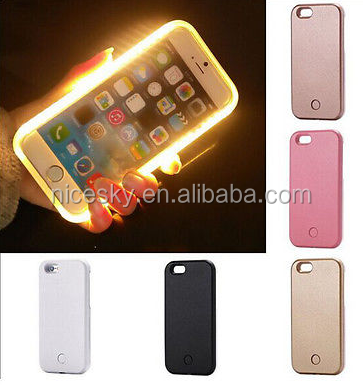 Luxury LED Light Up Selfie Luminous Phone Back Cover Case For Samsung Galaxy S5