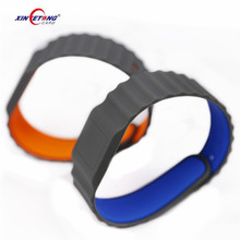security access custom printing nfc silicone wristband qr code smart bracelet rfid with nfc NTAG 213