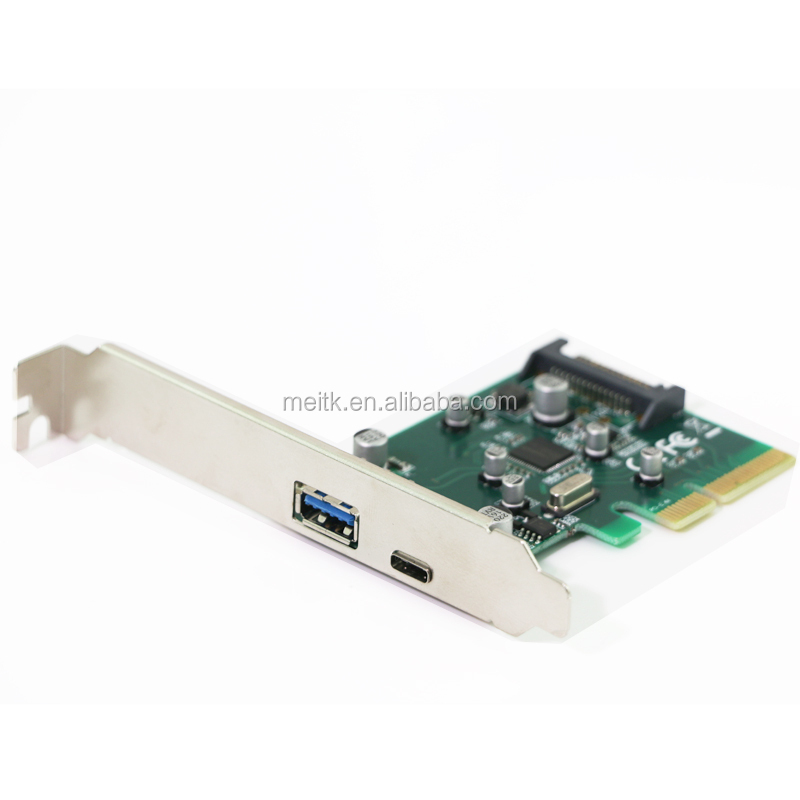 Desktop PCIe to USB 3.1 Type-c + Type A port adapter PCI-E to USB-C 10Gb