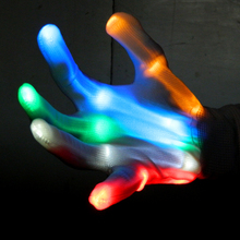 Amazing 6 Light Flashing Modes LED Dancing Gloves For Party Light Show