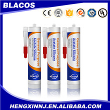 Blacos clear white black grey acetic gp silicone sealant
