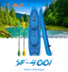 Families Sit-on-Top Kayak for Long Paddling Adventures with Four Backrests