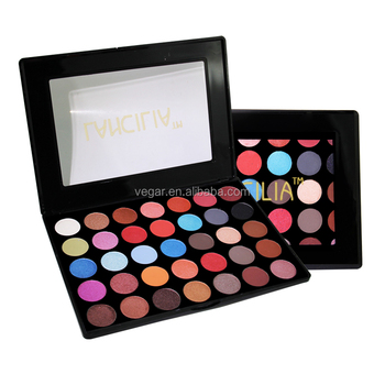 Blank Logo Palette Private Label 35 Colors Eyeshadow Palette Custom Makeup Palette with Matte and Shimmer Shades
