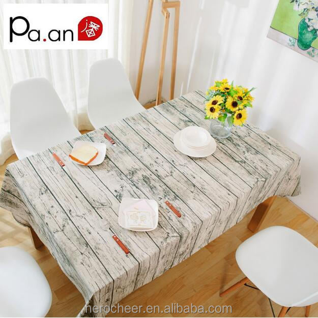 tripe Linen Retro Table Cloth Europe Style Creative Fresh Tea Table Cloth Plain Dyed For Wedding Home Table Decoration