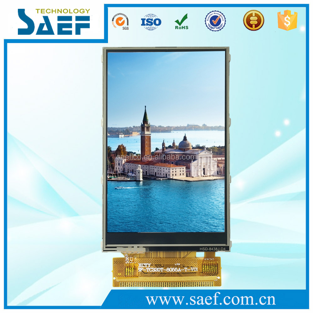 3.2 inch tft lcd display lcd panel 240x400 touch screen 44pin 8&16-bit interface