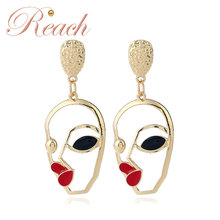 Factory Cartoon Style Hollowed-out Three-dimensional Alloy Earring for Amazon
