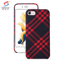 Plaid pattern pu leather phone case for iphone 5 6 6 plus 7 7 plus back cover